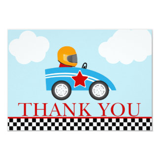 Race Car Thank you note cards 9 Cm X 13 Cm Invitation Card