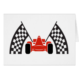 Race Car Thank You or Blank Note Note Card