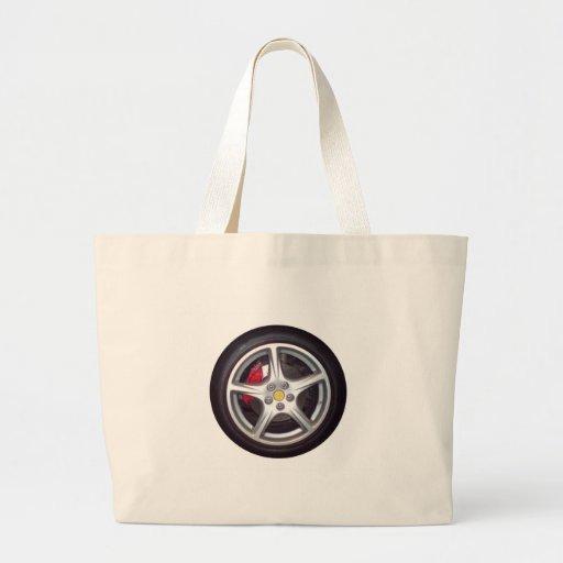 Race Car Wheel Canvas Bags