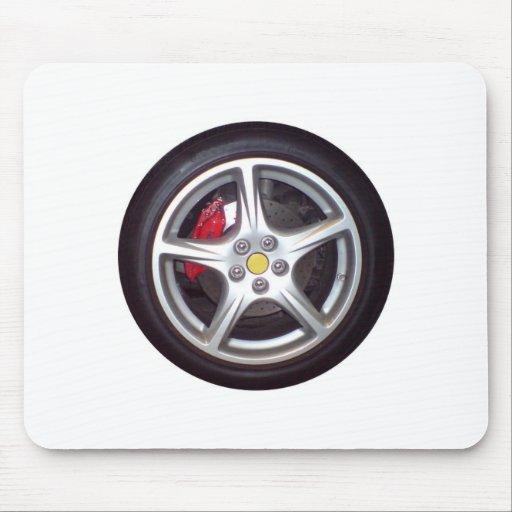 Race Car Wheel Mousepad