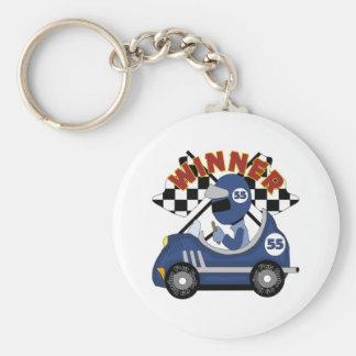 Race Car Winner Kids Gift Basic Round Button Key Ring
