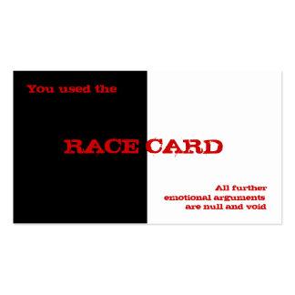 Race Card Business Card Templates