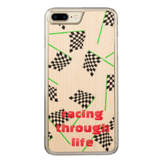 Race Flags by The Happy Juul Company Carved iPhone 8 Plus/7 Plus Case