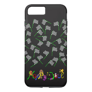 Race Flags by The Happy Juul Company iPhone 8 Plus/7 Plus Case