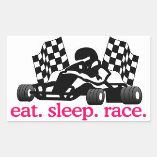 Race (Go Kart) Rectangular Sticker
