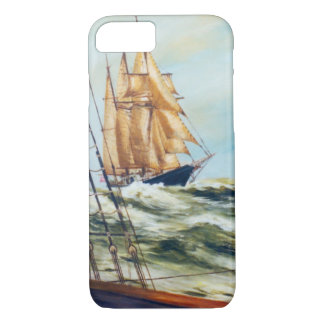 Race Home Sailing Ship Original Fine Art iPhone 7 Case