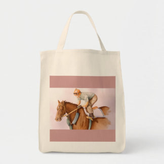 Race Horse and Jockey Tote Bag