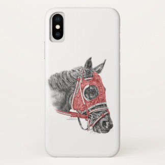 Race Horse Portrait Silks iPhone X Case