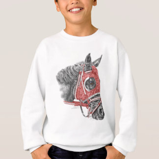 Race Horse Portrait Silks Sweatshirt