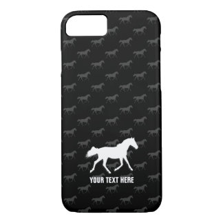 Race Horses Pattern | black background iPhone 8/7 Case