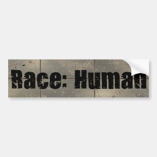 Race: Human Car Bumper Sticker