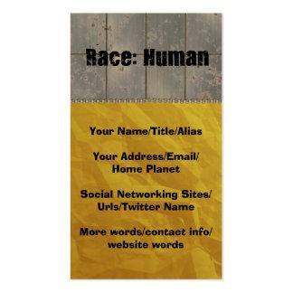 Race: Human Business Card