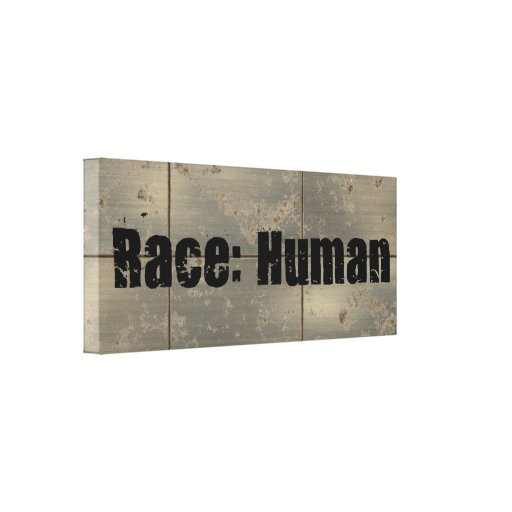 Race: Human Gallery Wrapped Canvas