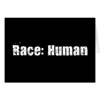 Race Human Greeting Cards