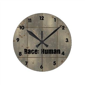 Race Human Wall Clock