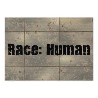 Race: Human 5x7 Paper Invitation Card