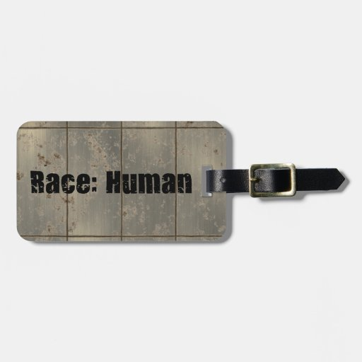 Race: Human Tag For Luggage