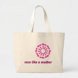 Race Like a Mother Jumbo Tote