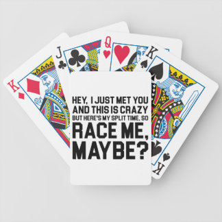 Race Me Maybe Bicycle Playing Cards