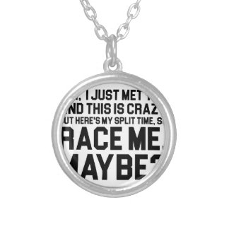 Race Me Maybe Silver Plated Necklace