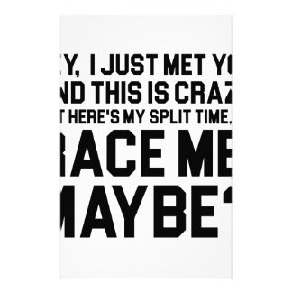 Race Me Maybe Stationery