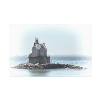 Race Rock Lighthouse - In A Lighter Tone Canvas Print
