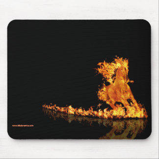 Race the fire - Mouse pad