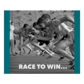 Race to Win - Motivational Running Poster