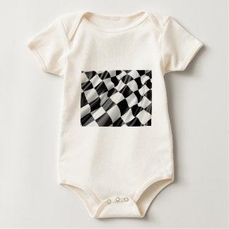 Race Track Flag Flag Black And White Finish Speed Baby Bodysuit