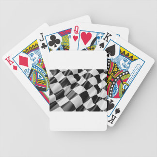 Race Track Flag Flag Black And White Finish Speed Bicycle Playing Cards