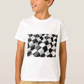 Race Track Flag Flag Black And White Finish Speed T-Shirt