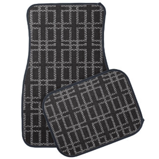 Race Track Road Stripe Car Floor Mats Set of Four