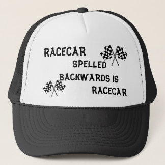 RACECAR SPELLED BACKWARDS HAT