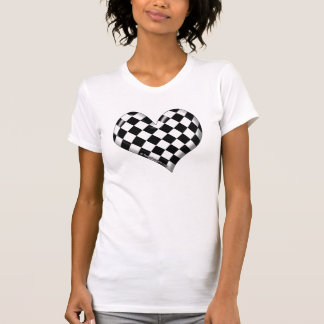RaceFashion.com Checkered Flag Heart T-Shirt