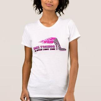 RaceFashion.com Checkered Flag High Heels T-Shirt