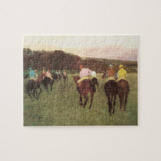 Racehorses at Longchamp by Edgar Degas Jigsaw Puzzle