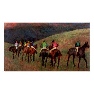 Racehorses in a Landscape jockeys horse art Degas Double-Sided Standard Business Cards (Pack Of 100)