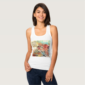 """Racerback Tank Top """"Life's A Whirlwind"""""""