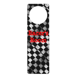 Racer's Room Checkered Flag Door Hanger