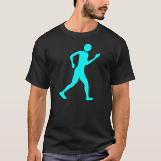 Racewalking - Cyan T-Shirt