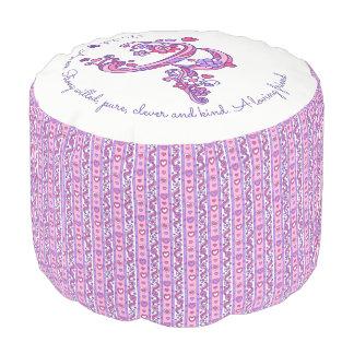 Rachel letter R monogram name meaning custom pouf