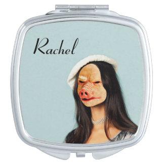 """""""Rachel"""" Name Pig Face Mirror Vanity Mirror"""