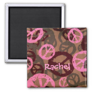 Rachel-Peace Sign Design Magnet