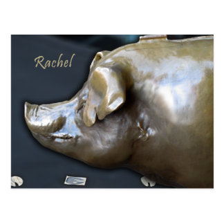 RACHEL THE PIGGY BANK Postcard