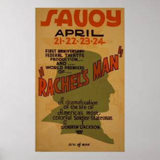 Rachel's Man Vintage Theatre WPA Poster