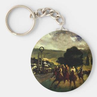 Racing at Longchamp Basic Round Button Key Ring