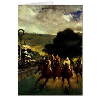 Racing at Longchamp Greeting Card