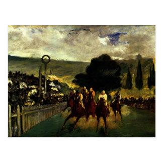 Racing at Longchamp Postcard