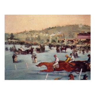 Racing at the Bois de Boulogne - Edouard Manet Postcard