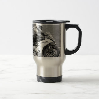 Racing bike number 60 travel mug